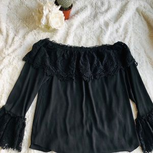 WHBM Off the Shoulder Lace Blouse